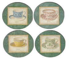 Teacup Teacups High Tea Afternoon Tea Cork Backed Coasters Set 4 Kitchen New