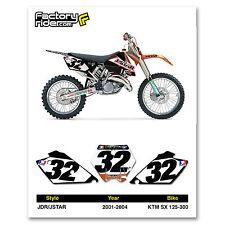 2001-2004 KTM SX 125-300 Dirt Bike Graphics Motocross Custom Number Plates