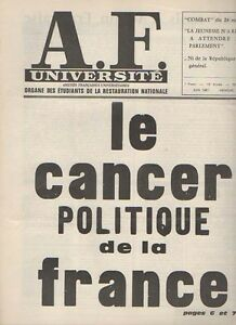 A. F . UNIVERSITAIRE - ROYALISME - N°124 juin 1967