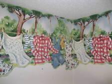 Housewives Wallpaper Border KLB8425B Line T.Flickinger Laundry