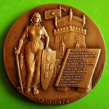 Woman with Sword & Shield / Tower / Politics / Presidents / Bronze Medal! M.17a