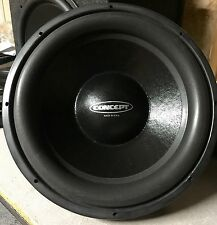 "New Old School Concept LMT-15D4 DVC 15"" Competition Subwoofer,RARE,USA,NIB,NOS"