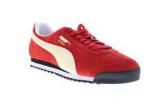 Puma Roma замшевые мужские красные замша, низкий топ на шнуровке кроссовки, обувь