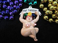 """THE REAL MEANING of """"FAT TUESDAY"""" MARDI GRAS NECKLACE BEAD BOOBS GAG (B271)"""