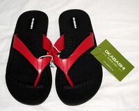Okabashi Womens Flip Flop Sandal Shoes Pink Black Breeze Size Medium