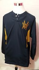 Nike Fit Dry Mens Blue Gold WV Long Sleeve Vented Pullover Size Medium
