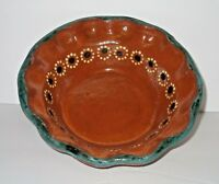 Tlaquepaque Mexican Pottery Terracotta Red Clay Salsa Serving Bowl