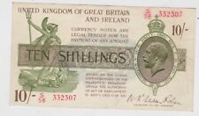 More details for t30 warren fisher s58 ten shilling treasury note near extremely fine condition