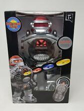 Remote Control Robot - RoboShooter Black & Red Robot Toy - Walks, Fires Discs