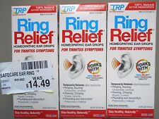 (3 Bottles) TRP Ring Relief Homeopathic Ear Drops .5 fl oz each FREE SHIPPING