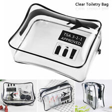 Cosmetic Makeup Toiletry Clear Travel Wash Bag Holder Pouch Set Kit Organizer US