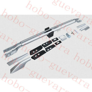 1Set Silvery Roof Rack Rail Carrier Bars for Toyota Land Cruiser LC200 2008-2018