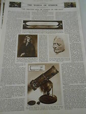The Greastest Man of Science of our race Telescope 1946 Print Article