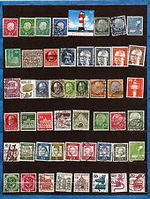 ALLEMAGNE Pochette 50 timbres oblitérés TOUS DIFFERENTS bon etat K50-6