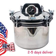 8L Steam Sterilizer Medical Dental Tattoo Silver Autoclave Sterilization Equipme