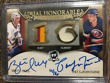 HULL & LaFONTAINE 2018-19 The Cup Dual Honorable Auto Patch SP #14/16 C'D HN2-HL