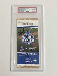 SALVADOR PEREZ Auto Autograph Signed MVP Royals 2015 World Series Ticket PSA/DNA