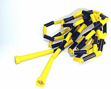 Skipping Rope 9ft Beaded (Black/Yellow) Jump Exercise Boxing Gym Fitness Rope