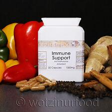Immune Support ORGANIC Paprika Ginger Cinnamon Turmeric Vitamin C Capsules1000mg