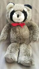 """Russ Berrie """"Bandito"""" Black and White Raccoon stuffed/plush - 13"""""""