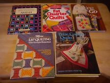 Lot of 5 Quilting Books Amish Lap Quilting Prize Country Quilts HBDJ