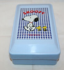Peanuts Snoopy Plastic Sewing Box Storage Tray Light Blue Vintage Japanese