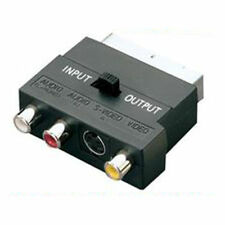 Scart Lead to SVHS & 3 x RCA Phono TV Adaptor Adapter Converter Box with Switch