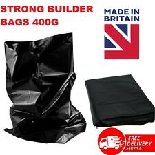More details for black rubble sacks extra heavy duty strong builder rubish waste bags