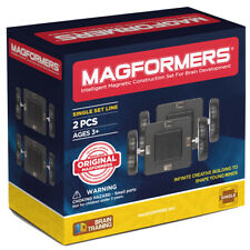 Magformers Magnetic Click Wheel 2 Piece Set - Construction Toy for Kids
