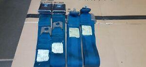 68-72 Chevelle GTO OLDS Blue Seat Belts 1969 Roof Shoulder Belts (#6097)