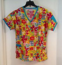 Fashion Scrub Women's Colorful Top Size Small Great Condition