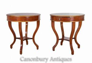 Pair Art Deco Side Tables - Vintage Furniture 1930