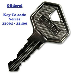 Gliderol Roller Garage Door Lock Keys To Code (Free Postage)