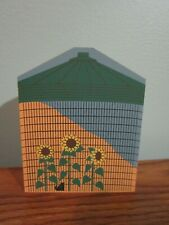 Amish Corn Crib Accessory Cat'S Meow Village Wood Nev Dsplyd Cond Winesburg Ohio