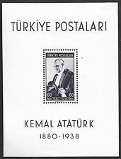 Turkey stamps 1940 MI Bloc 1  Kemal Ataturk  MLH  VF