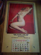 VINTAGE ORIGINAL 1955 Marilyn Monroe Golden Dreams calendar