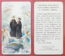 Santino Holy Card: Sante Bartolomea Capitanio e Vincenza Gerosa - Ed. AR 0168