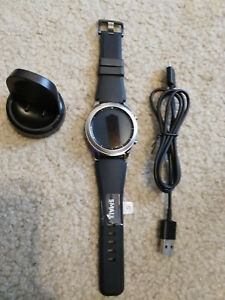 Samsung Gear S3 Classic Smart Watch - SM-R770, Silver with Black Band Size S