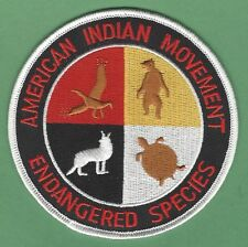 AIM AMERICAN INDIAN MOVEMENT ENDANGERED SPECIES PATCH