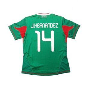 Men adidas Mexico Home 2010 #14 HERNANDEZ Camisa Trikot Maglia Maillot Soccer