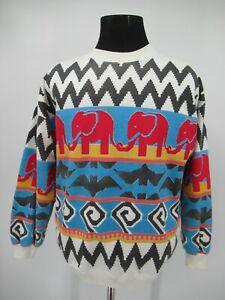 M9556 VTG 90's Spumoni By Franco Men's Aztec Navajo Pullover Sweatshirt