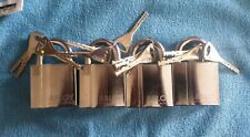4 x Abloy 340 hardened padlock with 3,keys