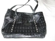 Womens Black Skull Purse Pre Owned Size 17 x 12 x 4