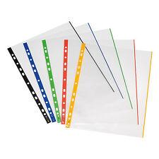 Prospekthülle A4 glasklar farbiger Rand 50 Stück von Herlitz