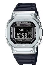 CASIO ✫ G-SHOCK GMW-B5000-1 Silver Solar Bluetooth Full Metal Resin Band