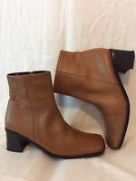 Fiore Brown Ankle Leather Boots Size 5