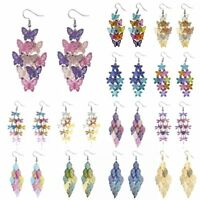 Fashion Women Butterfly Dragonfly Tassel Dangle Ear Earrings Hook Jewellery Gift