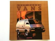 1987 Toyota Cargo and Panel Van Original Car Sales Brochure Catalog - 4wd