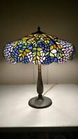 Unique Arts and Crafts Tiffany/Handel Acid Etched Base Lamp