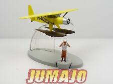 FIL16 AVION TINTIN Tim : Hydravion  jaune 1/100 (metal) + figurine Tintin PVC